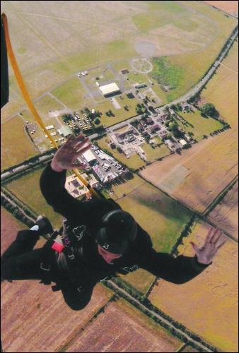 Chris Mould Parachute Jump 2006