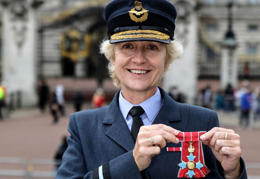 Air-Commodore-Dawn-McCafferty-CBE-Buckingham-Palace-SFW